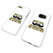FUNNY MOUSTACHE FORCE WHITE PHONE CASE COVER fits iPHONE / SAMSUNG (WH)