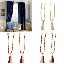 Curtain Tie Back Holdback Tieback Clip Drape Buckle Braided Tassel Home DIY 63cm