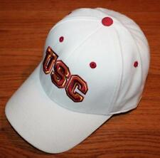 University of Southern California Trojans USC Stretch Fitted White Hat Cap *H4