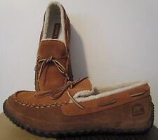 NIB Mens Sorel Maddox Moc Moccassin Casual Leather Slippers Slip On Shoes Elk