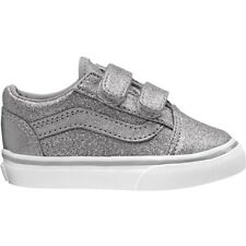 Vans TD Old Skool V Frost Gray Textile Infant Trainers Shoes