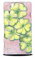 LUCKY FOUR LEAF CLOVER SKETCH HARD CASE COVER FOR SONY XPERIA C4