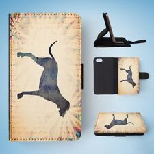 SCENT HOUNDS DOG WATERCOLOR ART  FLIP WALLET CASE COVER FOR IPHONE 5 / 5S / 5SE