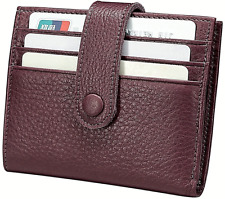 Men Women Genuine Leather Bifold Wallet Coin Credit/ID Card Holder Purse New