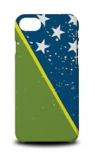 SOLOMON ISLANDS COUNTRY FLAG HARD CASE COVER FOR APPLE IPHONE 8