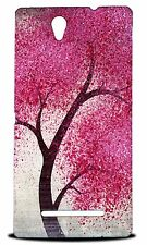 CUTE CHERRY BLOSSOM TREE HARD CASE COVER FOR SONY XPERIA C3