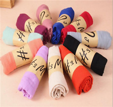 Women long candy colors soft cotton Scarf Wrap Shawl scarves fashion stole NEW