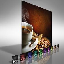 Coffee Cup with Beans Square  Canvas Print Large Picture Wall Print