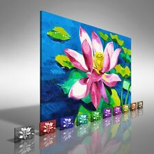Water Lily Floral Flower Canvas Print Large Picture Wall Print