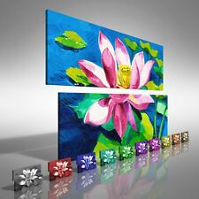 Water Lily Floral Flower Double Canvas Print Large Picture Wall Print