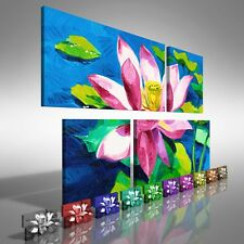 Water Lily Floral Flower Duo Offset Canvas Print Large Picture Wall Print