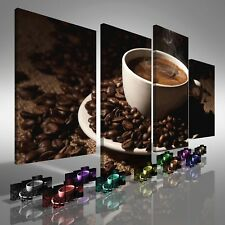 Coffee Cup with Beans Offset Canvas Print Large Picture Wall Print