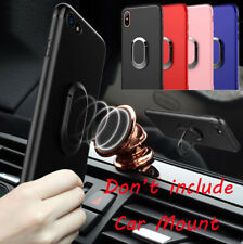 Shockproof Kickstand TPU Case Magnetic Car Mount Holder for iPhone X 8 7 6S Plus