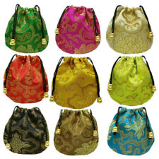 Ethnic Style Silk Drawstring Pouch Jewelry 1 Pcs Drawstring Embroidery Bags