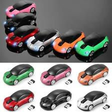 Car Shape 2.4GHz Wireless Cordless Optical Mouse USB Receiver for PC IXH4