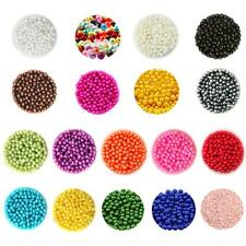 500pcs 6mm Multicolor Plastic Round Pearl Spacer Loose Beads for Jewelry Making