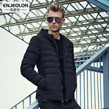 Men Hooded Jacket Cotton Padded Coat Warm Winter Parka Outwear Slim Down Thick