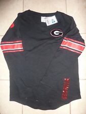 "VICTORIAS SECRET PINK BLING GEORGIA ""BULLDOGS"" LIGHTWEIGHT SWEATSHIRT NWT"
