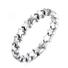 NEW S925 Silver Plated Star Trail Ring Band Wrap Rings Women Jewelry Fashion