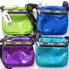 Le Sportsac Shellie Crossbody Bag NWT Snake Texture 4 Colors Available