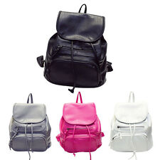 Women Fashion Bag Solid Soft Leather  Daily Backpacks Schoolbag Shoulder Bags
