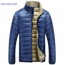 Men Ultralight Jacket Coat Down Puffer Packable Warm Hooded Outwear Duck Parka