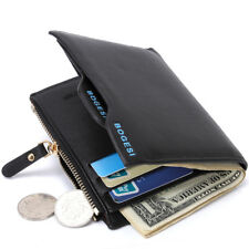 New Luxury Mens Leather Wallet Credit/ID Card HolderPurse Money Clip