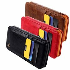 Luxury iPhone X Leather Phone Case by CMAI2 Card Magnetic Flippable Cover Stand