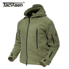 Breathable Thermal Jacket Fleece Hooded Men Warm Tactical Coat Tops Military