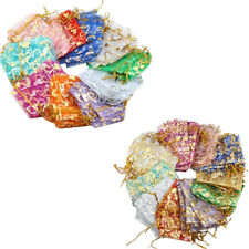 Heart Organza Gift Bags Pouch Small Medium Large Jewellery Wedding Favour Bag UK