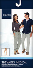 SIGVARIS COTTON COMPRESSION THIGH HIGH STOCKINGS for Men Women, 30-40mmHg ANY SZ