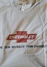 New Men's Silver White Chevrolet The New Reliables Graphic Tee T Shirt L XL 2X