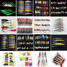 Various Assorted Fishing Lures Spinner Baits Crank Bait Fish Tackle Steel Hooks