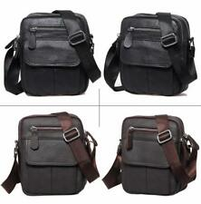 Men Leather Messenger Bag Men's Crossbody Small Satchel Shoulder Bags Handbags