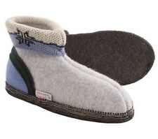 WESENJAK Austrian Boiled Wool Slippers Pewter/Blue Choose Your Size  UNISEX