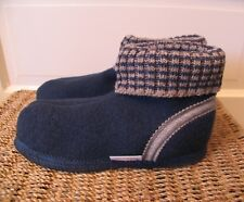 WESENJAK Boiled Wool Slippers NAVY BLUE Women and Men CHOOSE YOUR SIZE