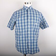 Chaps Easy Care Casual Dress Shirt Men's M Red Blue Green Yellow Plaid