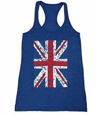 Union Jack Flag Women's junior fit Racerback Tank Top