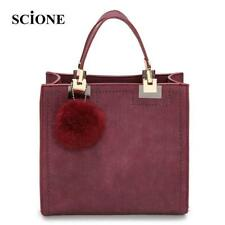 Brand Top-Handle Bags Women Leather Handbags Large Solid Shopping Tote