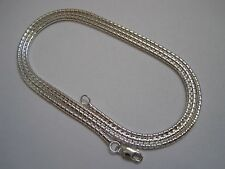 NEW BEAUTIFUL 925 STERLING SILVER 2MM SNAKE CHAIN NECKLACE + FREE SHIPPING