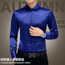 New Long Sleeve Shirts Mens Formal Business Solid Slim Fit Luxury Dress Shirt