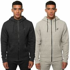 Kangol Mens Fitted Hoodie Quilted Graphic Geometric Hooded Sweat Tracksuit Top