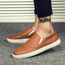 Leather Oxfords Comfy 2017 Leisure Fashion Mens Casual Brock Flat-Soled Loafer A