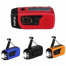 2000mAh Solar Hand Crank Emergency Radio Durable LED Flashlight Phone Charger