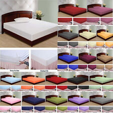 1000 TC NEW EGYPTIAN COTTON EXTRA DEEP POCKET FITTED(BOTTOM)SHEET ALL SIZE&COLOR
