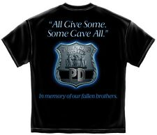 All Gave Some Law Enforcement T-Shirt- Cotton Black Short Sleeve Tee Shirt