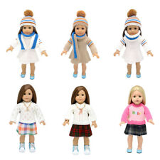18 inch Dolls Clothes Long Sleeve Knit Sweater Dress for 18'' American Girl Doll