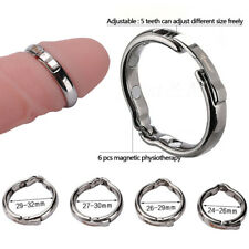 BIGGER MAN, Penis Impotence Erection Delay Aid Magnet Stainless Steel ring