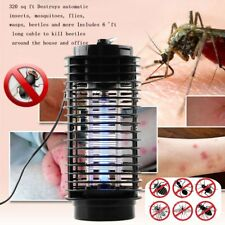 110V/220V Electric Mosquito Fly Bug Insect Zapper Killer With Trap Lamp Black DQ