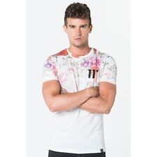 11 Degrees Mens Sub Lightweight Dripping Floral Short Sleeve Regular fit T-Shirt